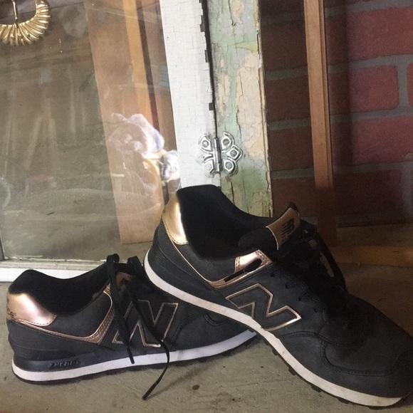 18f00615d177e New Balance Trainers Black Leather/ Rose Gold. M_5b5384c203087c58784dcf01